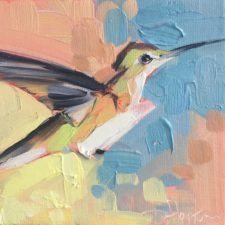 Hummingbird painting by Louisiana artist Denise Hopkins