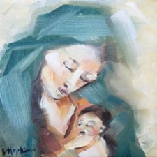 Madonna Painting by Catholic artist Denise Hopkins