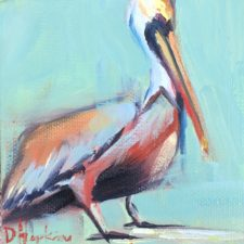 Pelican painting by Louisiana artist Denise Hopkins